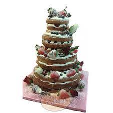 4 Tiered Naked Fresh Fruit Cake
