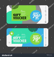 coupon design abstract gift voucher coupon design template stock vector 2018