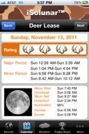 Solunar Deer Feeding Chart Solunar Tables Deer Hunting Apps