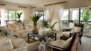 ... Living Room, Nice Decoration For Living Room Sofa Wooden Table Vase  With Plants Cushion Curtain ...