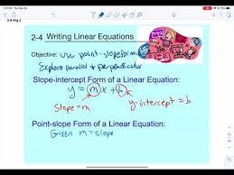 2 4 writing linear equations alg 2