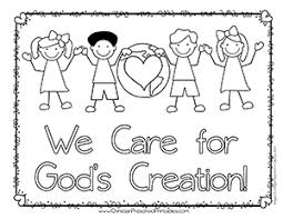 Small Picture Earth Day Bible Coloring Pages