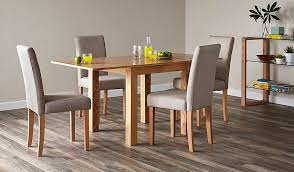 dining room tables with upholstered chairs. flip top ash dining table and 4 upholstered chairs- oak | tables \u0026 chairs george at asda room with w