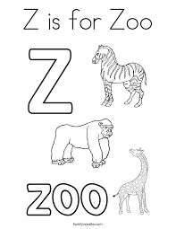 Small Picture Z is for Zoo Coloring Page Twisty Noodle