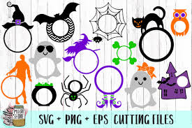 This is a halloween monogram frame graphics for use in cutting machines, printing, and other what are the file types? Halloween Monogram Frame Bundle Svg Png Eps Cutting Files By Glitter Moonshine Svg Thehungryjpeg Com
