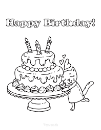 You can use crayons, markers, colored pencils and even. 55 Best Happy Birthday Coloring Pages Free Printable Pdfs