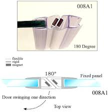 sealing shower doors magnetic shower door seal glass to glass rubber seal strip for shower door