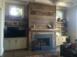 reclaimed wood fireplaces in atlanta rustic family room
