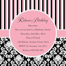 18th birthday invitation black and pink background 4