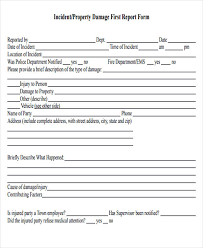 Damage Report Template 16 Free Word Pdf Format Download