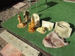 latex and fiberglass moulds to make concrete garden ornaments in