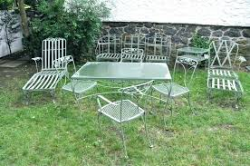 vintage patio furniture outdoor black metal chairs image of wrought retro cushions
