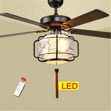 remote control fan light new ceiling fan lights living room bedroom lights 5 wooden lanterns led