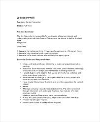 senior copywriter job description template in pdf copywriter job description