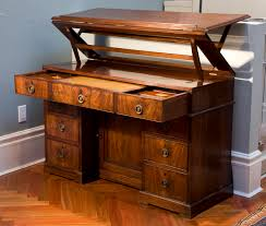 antique desks for home office. Furniture Antique Mahogany Desks With Drawers For Charming Home Office O