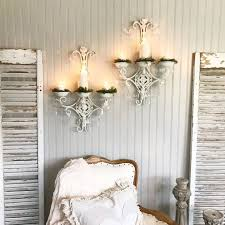crystal wall candle holder sconces
