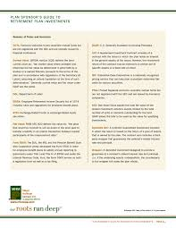 standard investment contract advisorselect plan sponsors guide to retirement plan investments