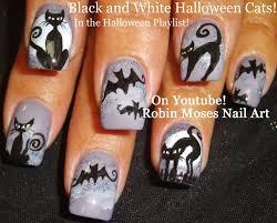 Nail Art | Easy Halloween Nails | Bats & Cats Design Tutorial ...