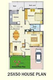 25x50 house floor plan indian house