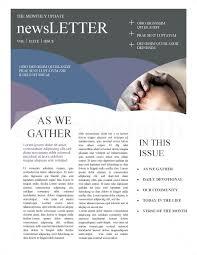 Christian Newsletters Template Newsletter Templates