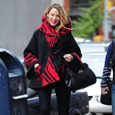 blake lively s style favors ponchos