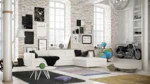 White Exposed Brick Wall 10 Amazing Living Room Designs With Exposed Brick Walls