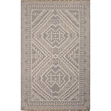 jaipur batik flat weave tribal pattern wool gray ivory rug bat04
