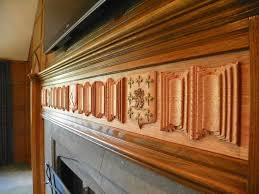 custom made custom carved fireplace mantel