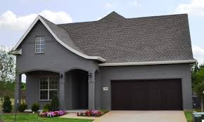 Light Grey Brick House Village Homes Dark Grey Painted Brick With Light Grey Trim