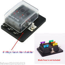 dc fuse box 12 volt fuse block dc 12v 24v 6 way circuit car boat auto blade fuse block