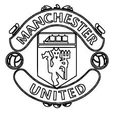 Boy Playing Soccer Coloring Pages New Print Manchester United Logo