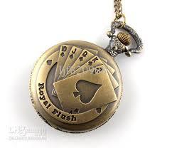 unisex poker bronze quartz pocket watch necklace vintage cool unisex poker bronze quartz pocket watch necklace vintage cool pocket watches mens jewelry necklace