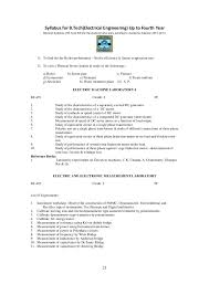 BTech in Electrical Engineering Syllabus WBUT