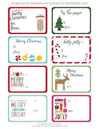 World Label Exclusive Christmas Gift Tag Printable U2014 Angie Sandy Christmas Gift Tag Design