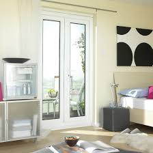 4ft Clear Glazed PVCu External French Door Set,