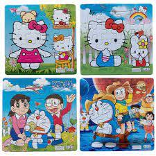 3 Cái/bộ Hoạt Hình Giấy Xếp Hình Màu Hồng Dễ Thương Mèo Doraemon Nhân Vật  Hành Động Kịch Bản Ăn Tối Trượt Tuyết Giáo Dục Ghép Hình Kid Quà  Tặng|Action Figures