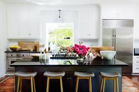 Black Kitchen Island with Black Countertop