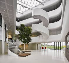Stairs and railings, Vreugdenhil Dairy Office by Maas Architecten