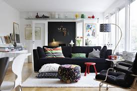 And White Living Room Interior Design Ideas - Black couches living rooms
