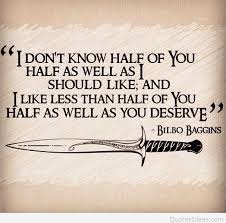 nice hobbit bilbo baggins quote