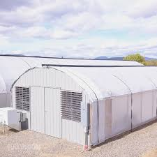 Automated Light Deprivation 20 Wide Straight Wall Quonset Style Light Dep Greenhouse