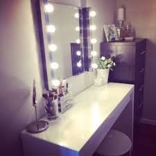 tri fold mirror with lights mirror with light bulbs homemade vanity