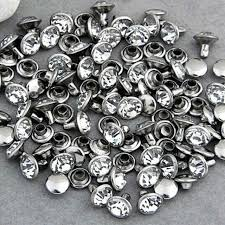 200sets 6mm cz crystals rhinestone rivets rapid silver nailhead spots studs leather craft art decoration jewelry