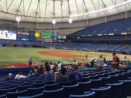 Tropicana Field Seating Chart With Rows Tropicana Field Section 127 Row U Home Of Tampa Bay Rays