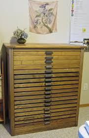 100 year old hamilton oak printers cabinet