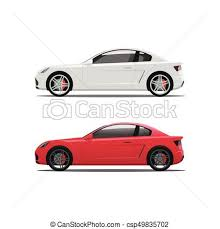 car side view white background. Wonderful White Car Side View Auto Vector White Red Cars Icons Automobiles For View Background P
