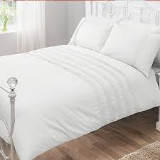 200 thread count pintuck duvet cover set white by pieridae