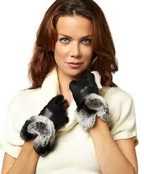 women s italian rex rabbit fur cuff cashmere lined winter leather gloves