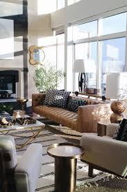 mid century modern inspired furniture. Living Room Mid Century Modern Inspired Design. Love The Layered Rugs And Leather Camel Colored Sofa. Seattle Showhouse. Interior Design By Decorist Furniture N