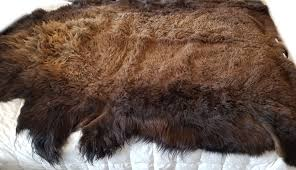 details about buffalo hide rug medium premium winter coat tanned bison rug made in the usa
